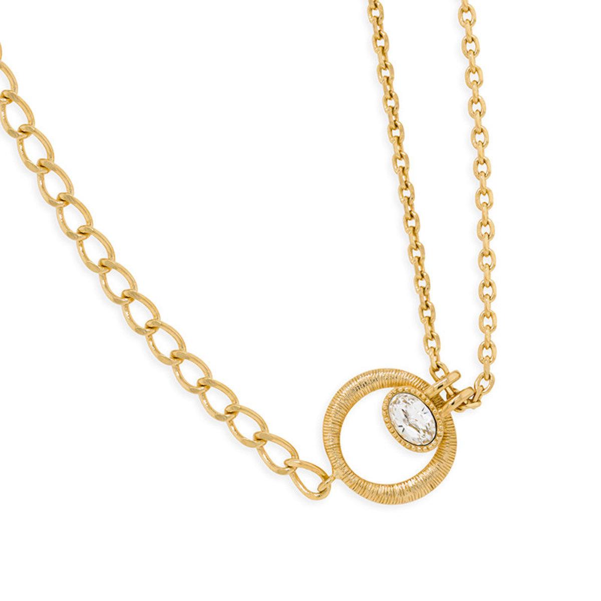 Liberté:gold plating, Swarovski crystal necklace