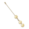 Full Moon: gold plating, CZ stone pierced earrings