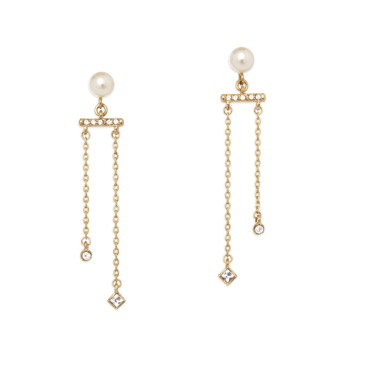 Pearl Light:gold plating,Swarovski crystal,Czech crystal pearl pierced earrings