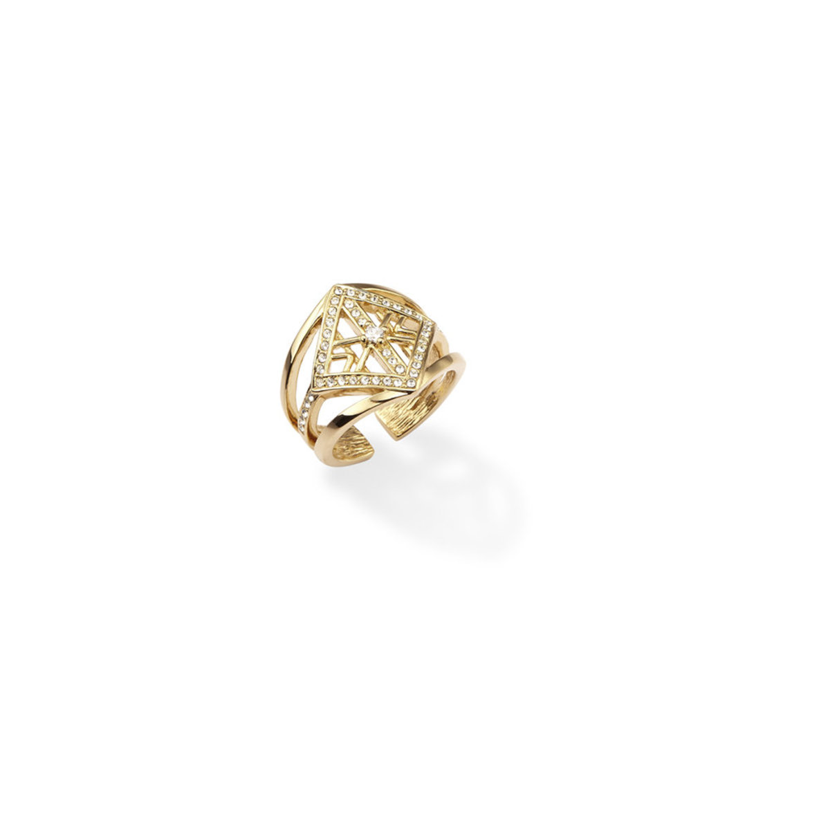 Alluring: 金色,  Swarovski 水晶石戒子
