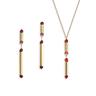 Rouge:gold plating, Swarovski red crystal necklace