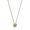 Petit Ami: gold plating, Swarovski crystal, double face piggy necklace