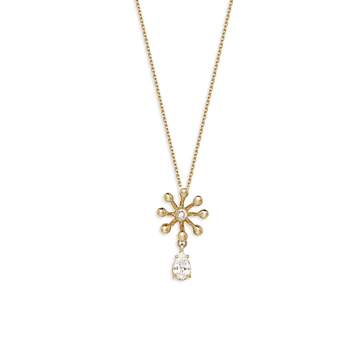 Brillia: gold plating, Swarovski crystal, CZ stone necklace