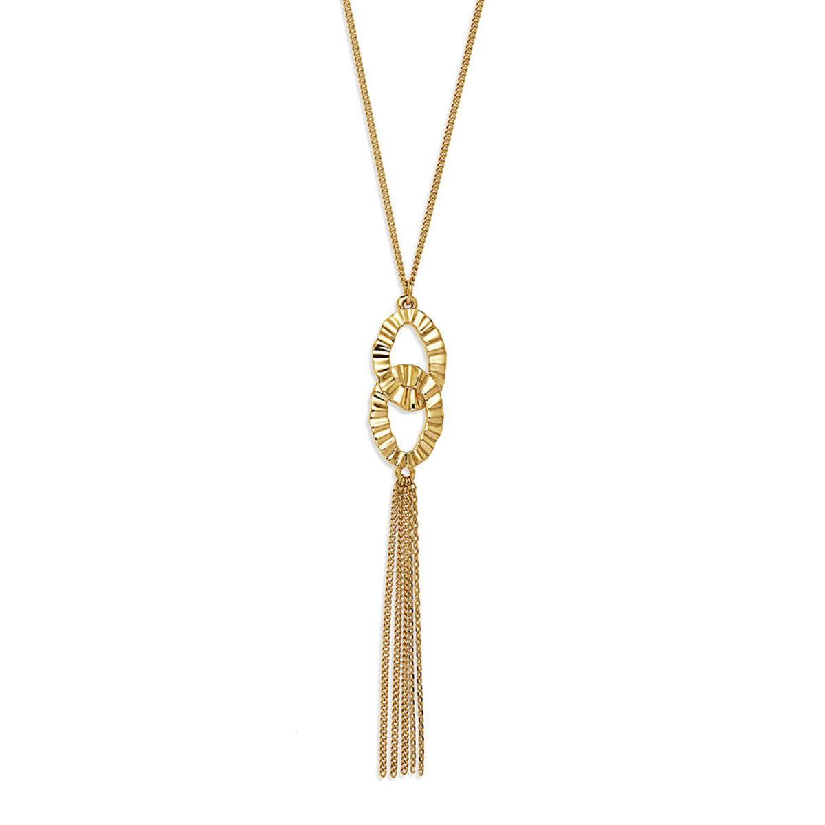 Glanz: gold plating, tassel necklace