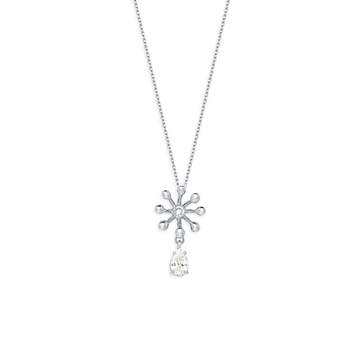 Brillia: platinum plating, Swarovski crystal, CZ stone necklace