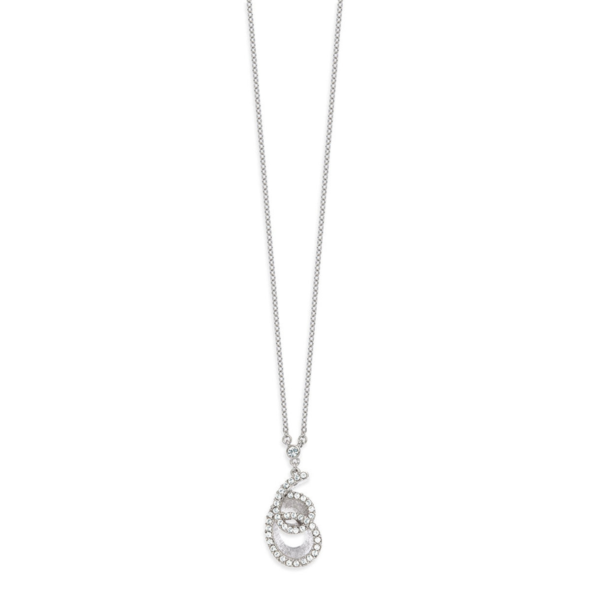 The Wave: platinum plating, Swarovski crystal pendant necklace