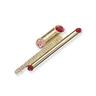 Rouge: gold plating, Swarovski red crystal pendant brooch