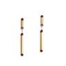 Rouge:gold plating,Swarovski red crystal 2-way pierced earrings
