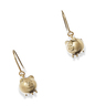 Petit Ami: gold plating 3D piggy fish hook earings
