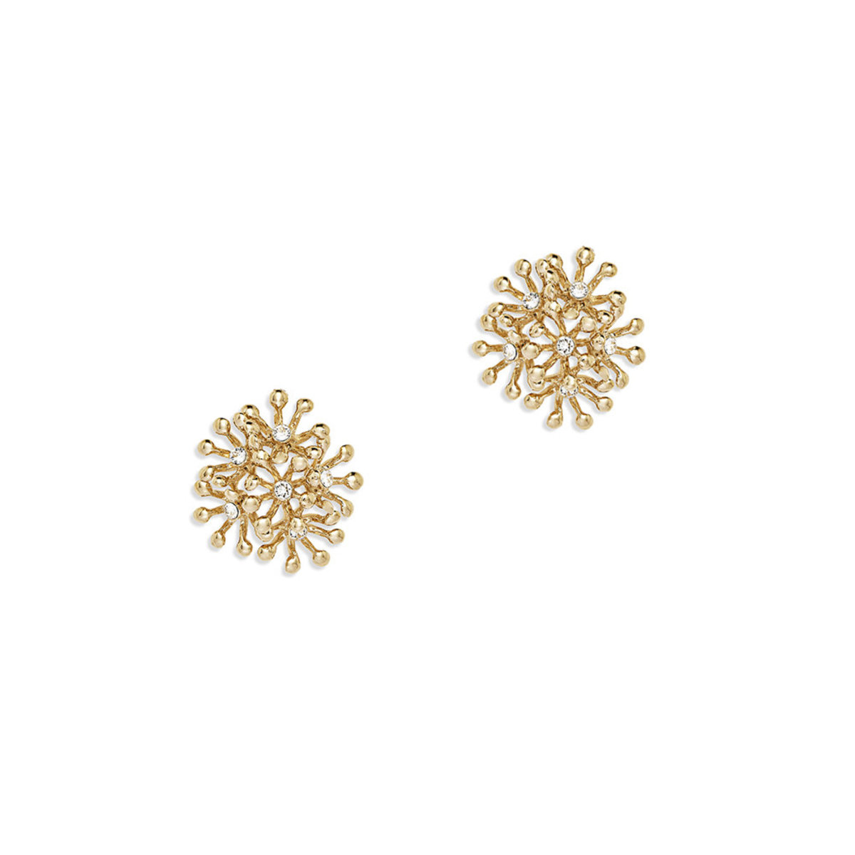 Brillia: gold plating, Swarovski crystal pierced earrings
