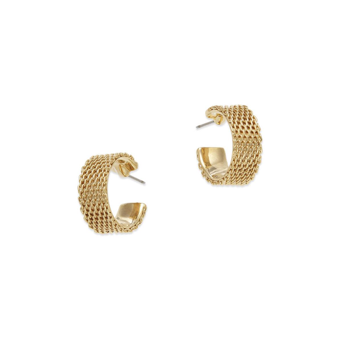 Swing:gold plating pierced earrings