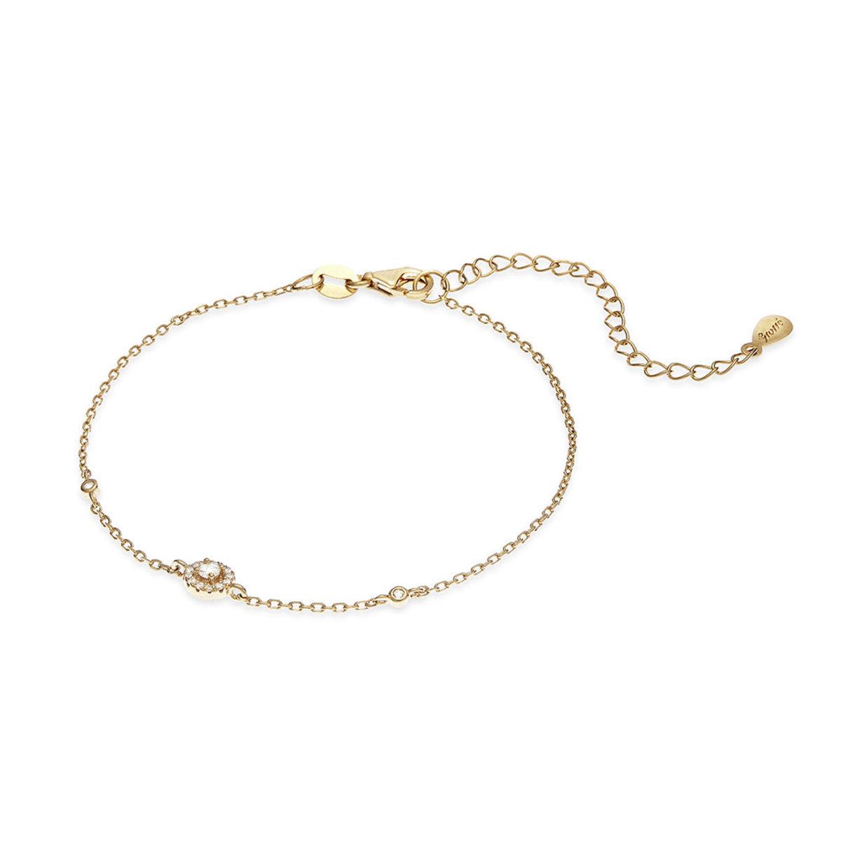 Tresor: 925 silver, gold plating, CZ stone bracelet