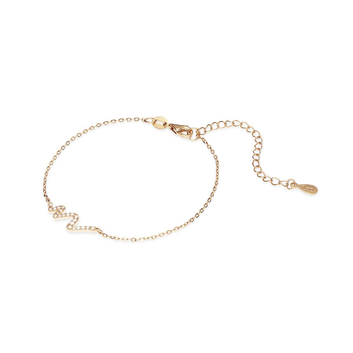 Tresor: 925 silver, rose gold plating, CZ stone bracelet
