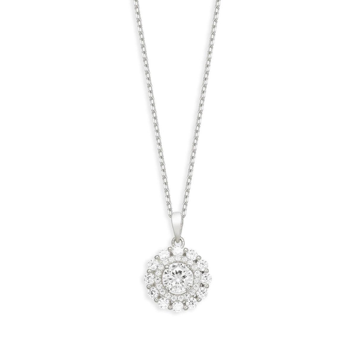 La Belle: 925 silver, CZ stone necklace