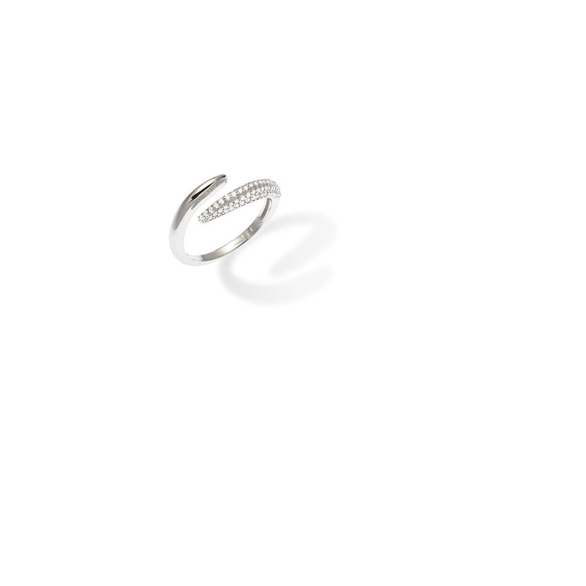 Tresor: 925 silver, CZ stone ring