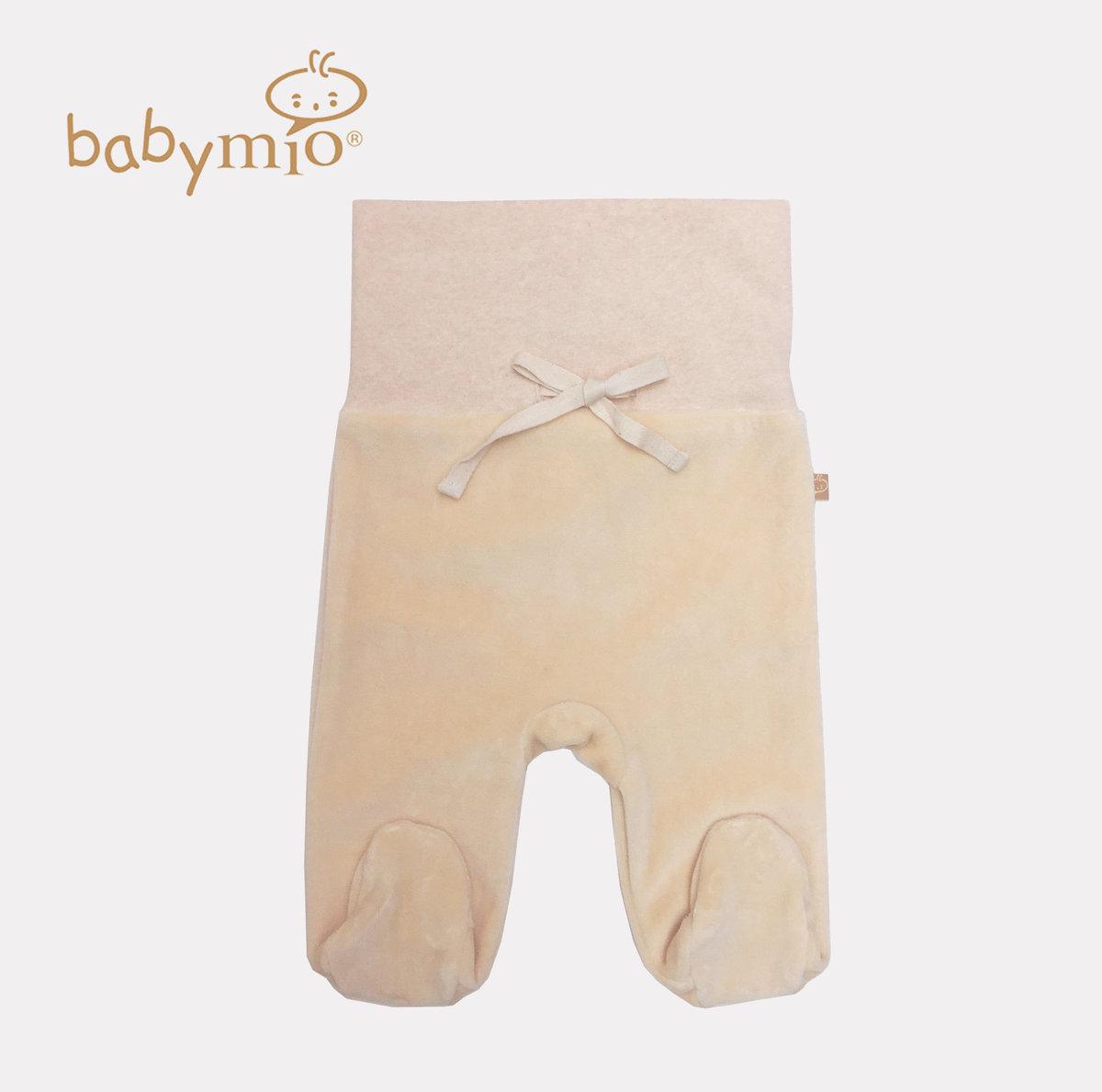 有機棉嬰兒高腰絲絨包腳褲