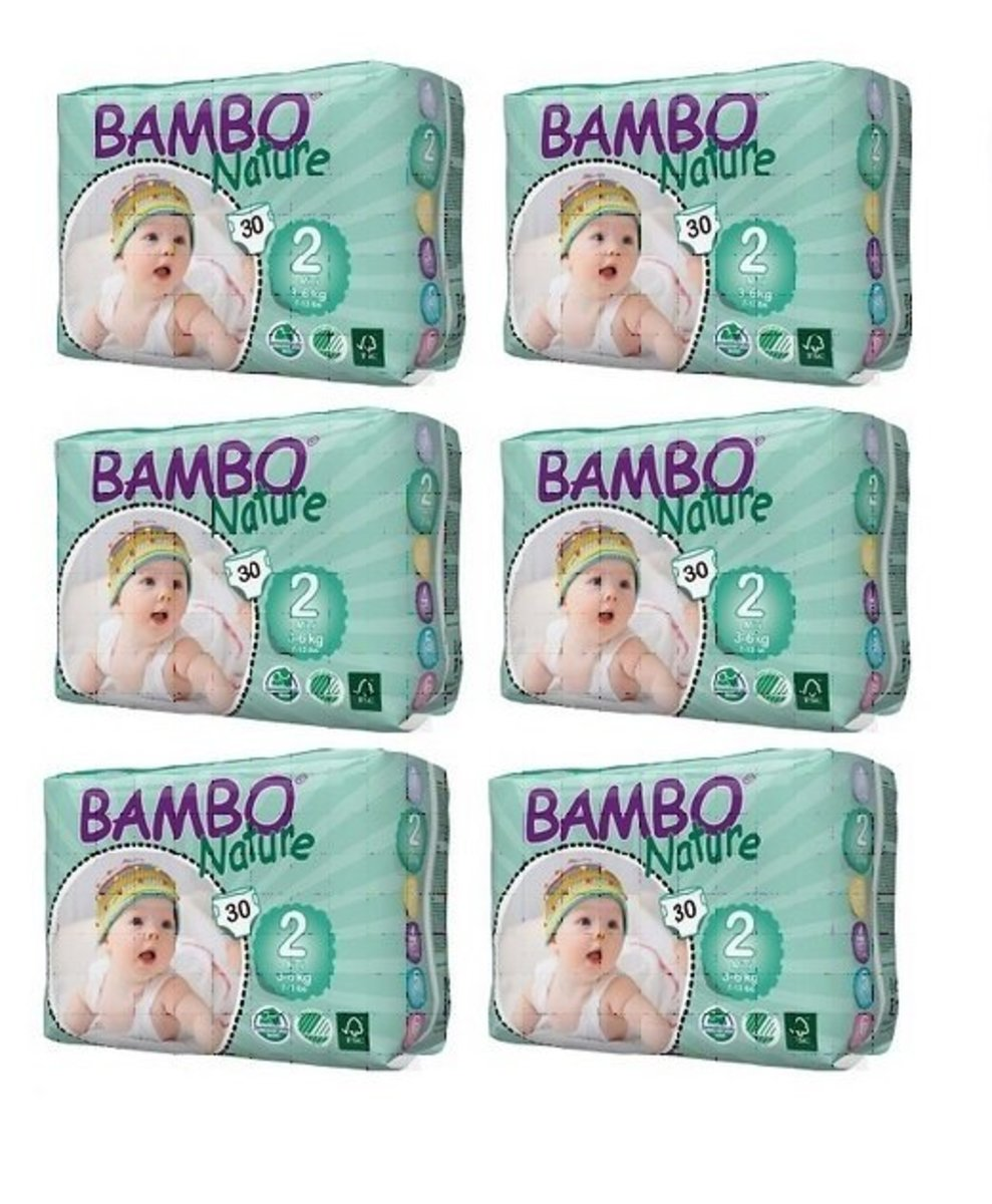 ECO Diapers XS (No. 2) (30 pcs) (6 Pack)