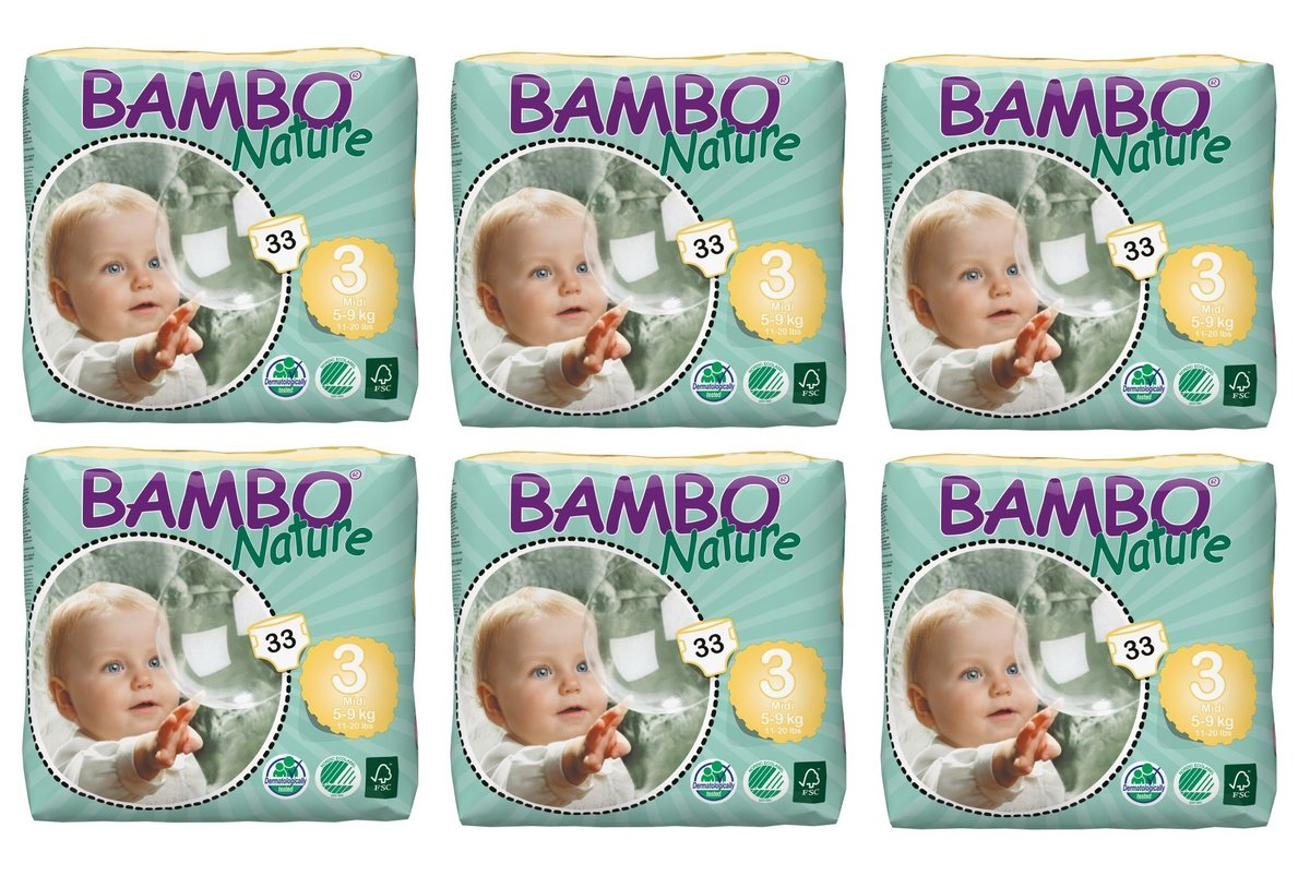 ECO Diapers S (No.3 Small Pack) (33pcs) (6 Packs)