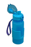 Silicone Foldable Bottle 350ml (Blue)