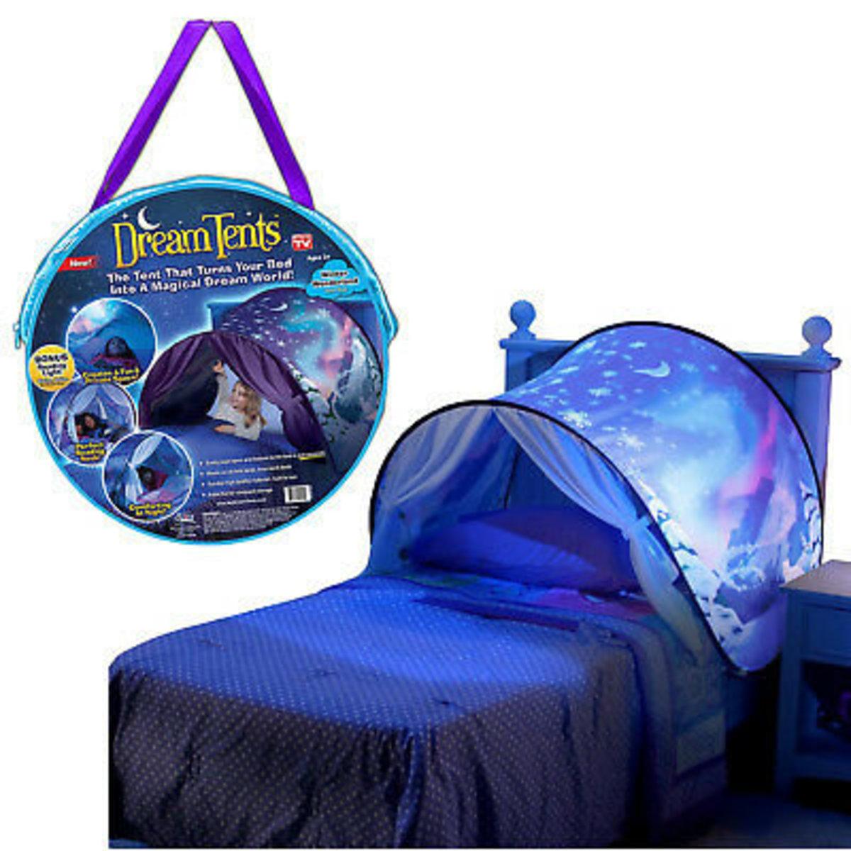兒童睡床帳篷/遊戲帳篷-簡易開收 (太空)