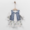 Organic Print Long Sleeve Dress (SUNA ELBISE)-3-6M