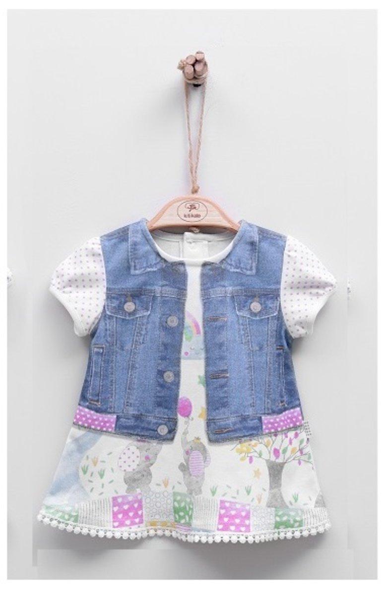 Organic Print Short Sleeve Dress (FUNDA)-3-6M