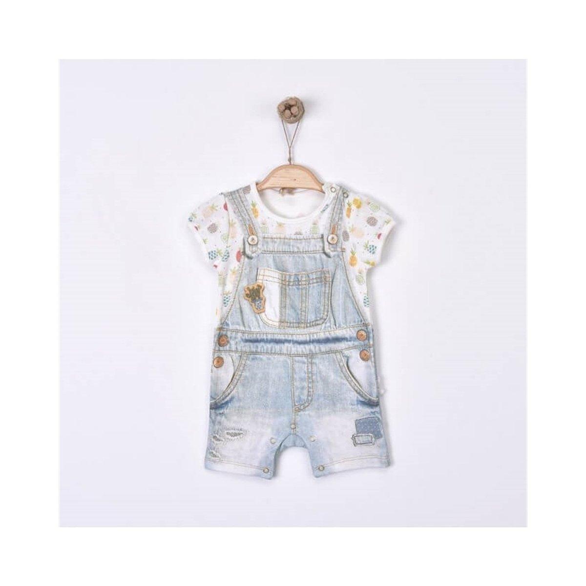 有機棉印花短袖連身衣 (CICEK SORTTULUM)-1-3M