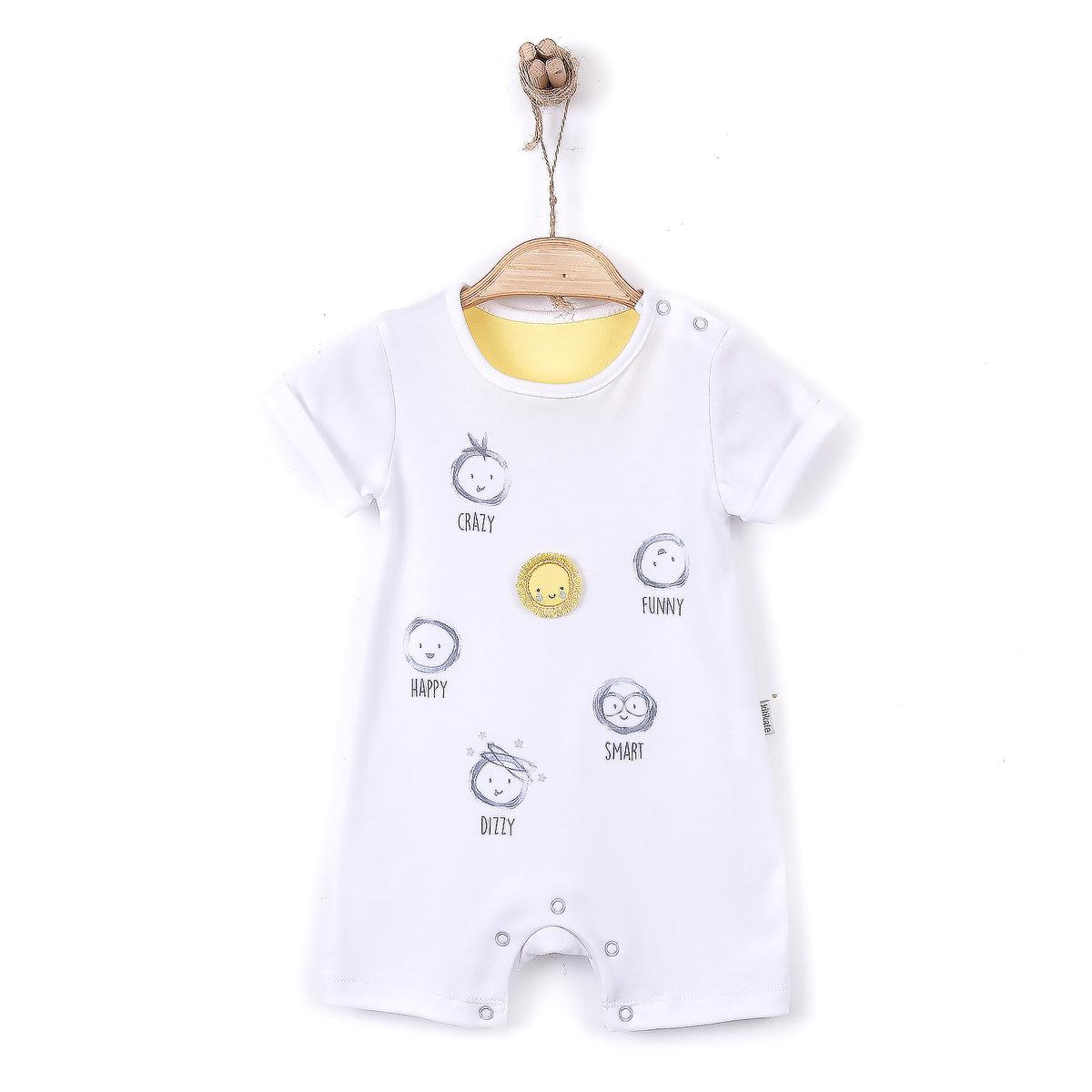 有機棉印花短袖連身衣 (SORTTULUM)-1-3M