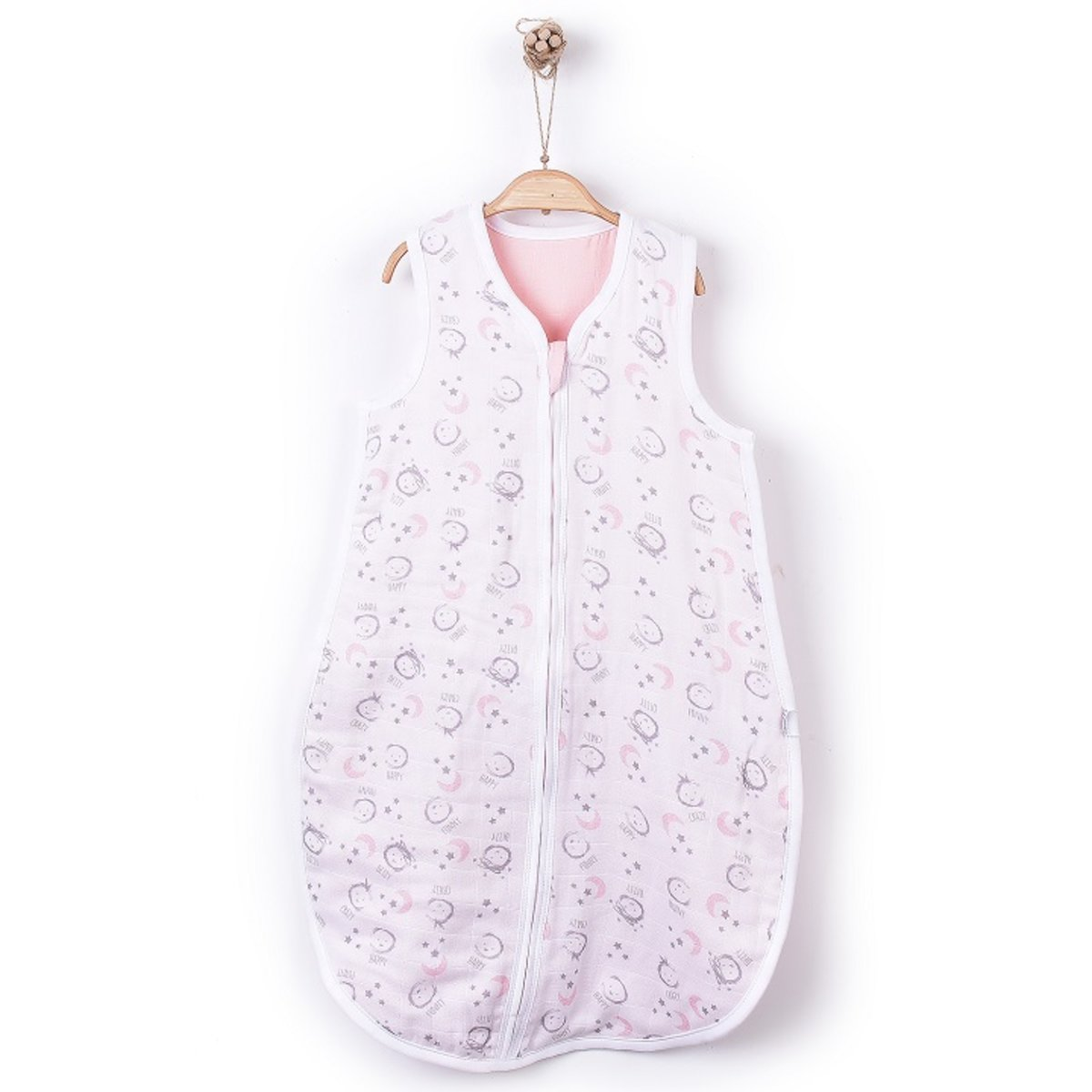 有機棉睡袋 (MUSLIN UYKU TORBASI)-(中瑪粉紅色)