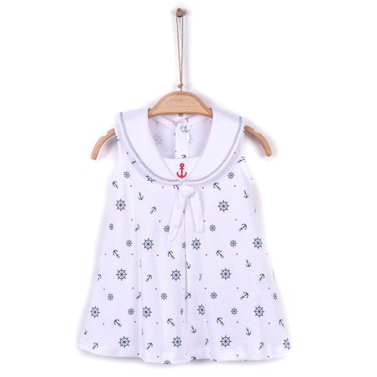 Organic Girl Sailor Dress (ELBISE)-3-6M
