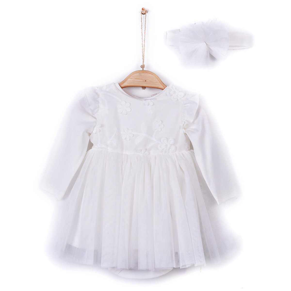 Organic Cotton Baby Girl Hundred Day Dress / Princess Dress (1-3M) (1pc)
