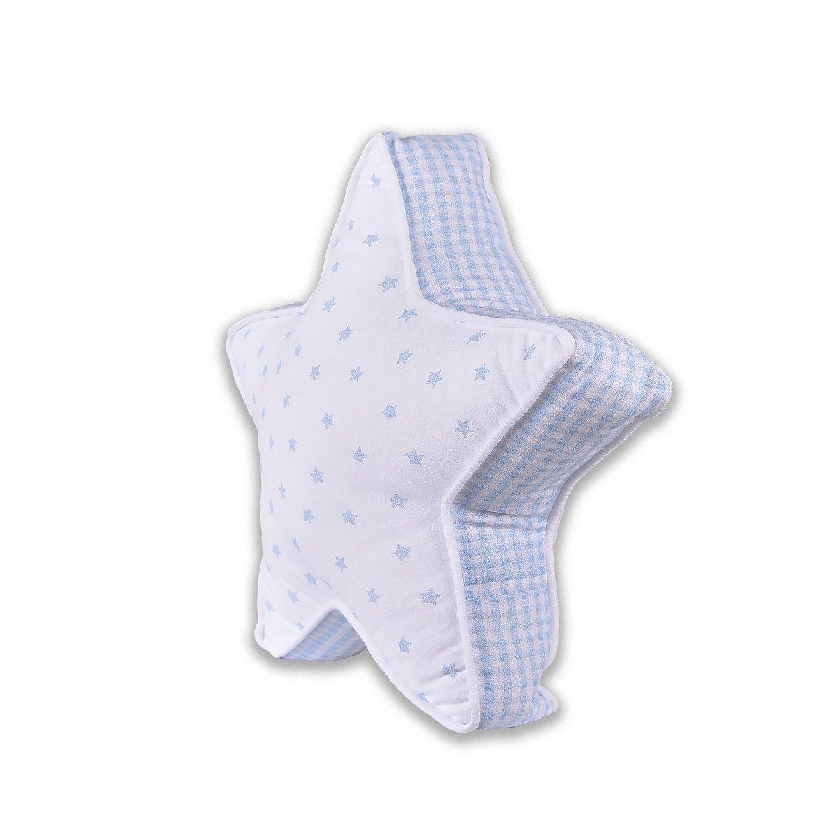 有機棉枕頭-星星 (細瑪藍色)