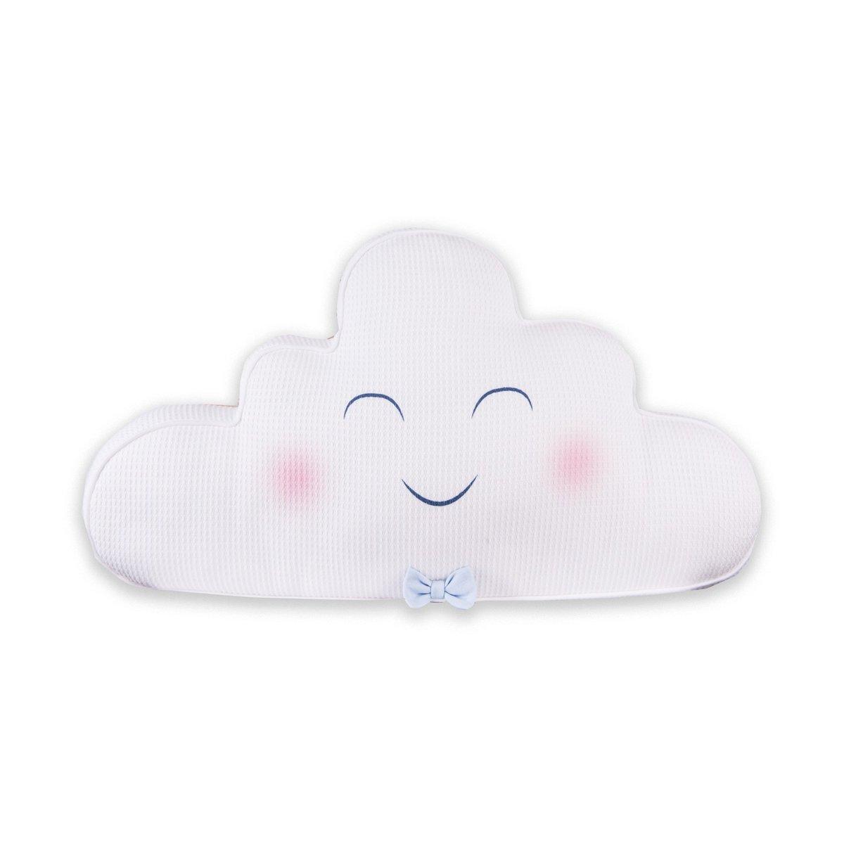有機棉枕頭-雲 (細瑪藍色)