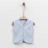 Organic Baby Vest (Blue)-56cm (1-3M) (1pc)