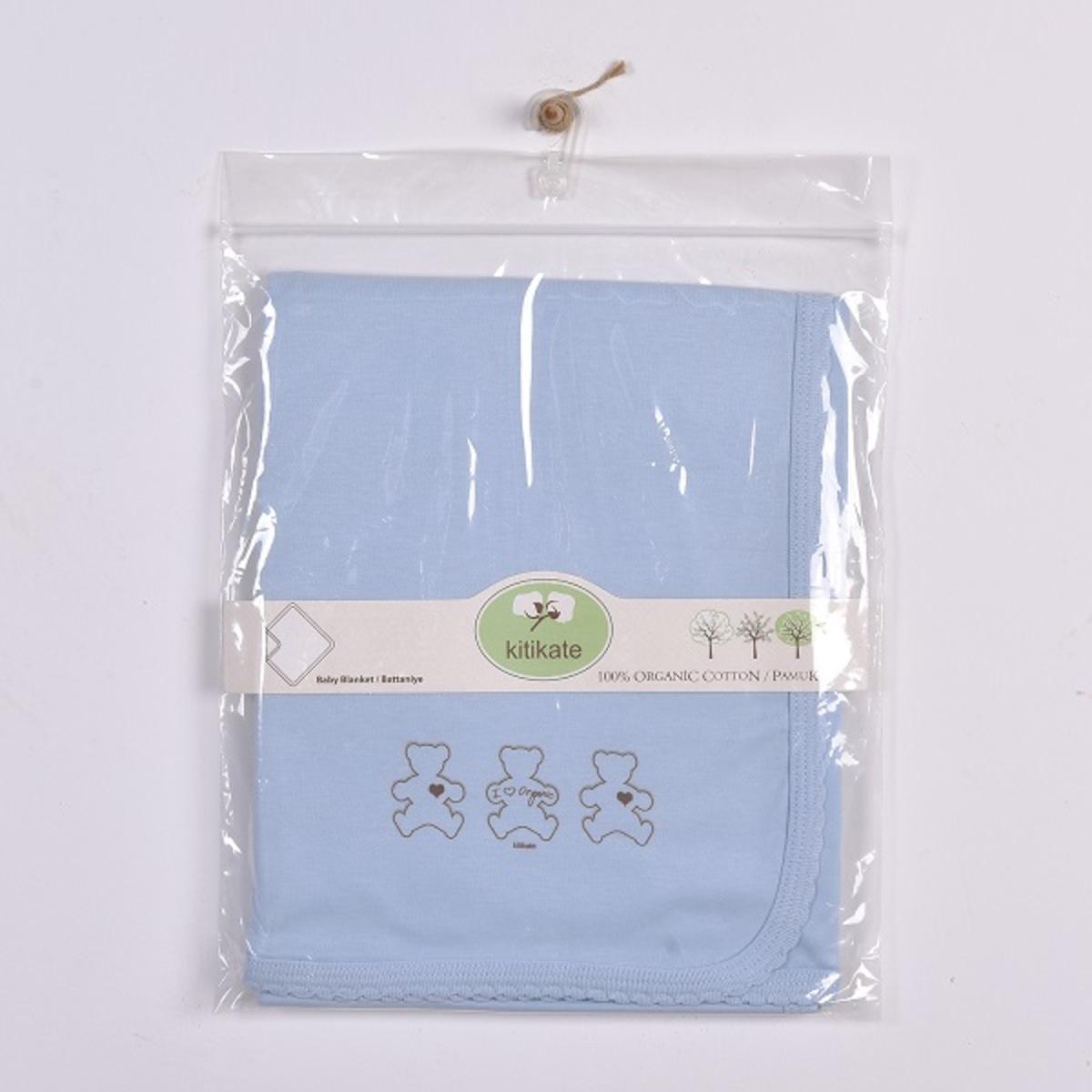 有機棉嬰兒被 (藍色)