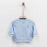 嬰兒有機棉長袖外套 (藍色)-56cm (1-3M)