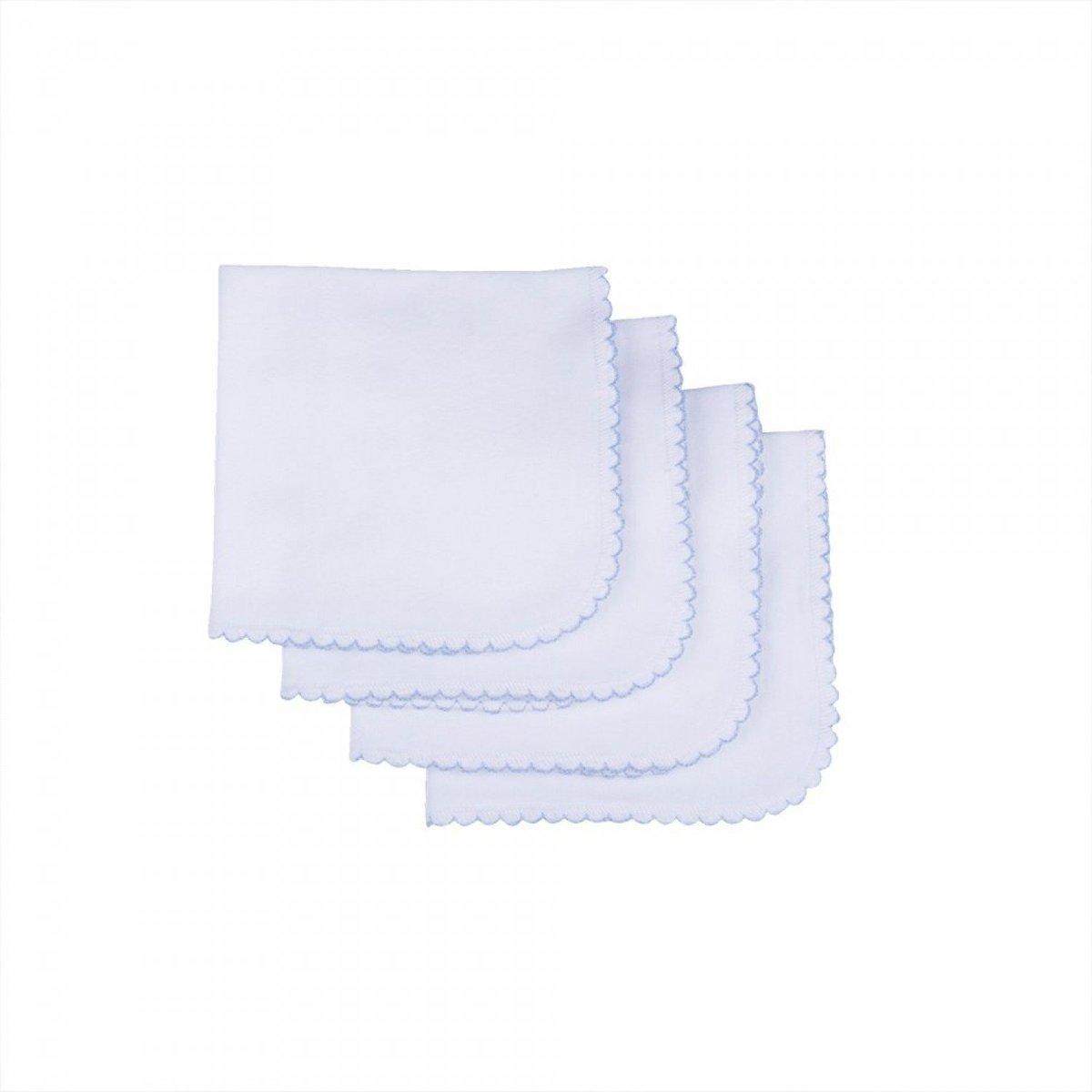 Organic Mouth Handkerchief-4pcs (Blue)
