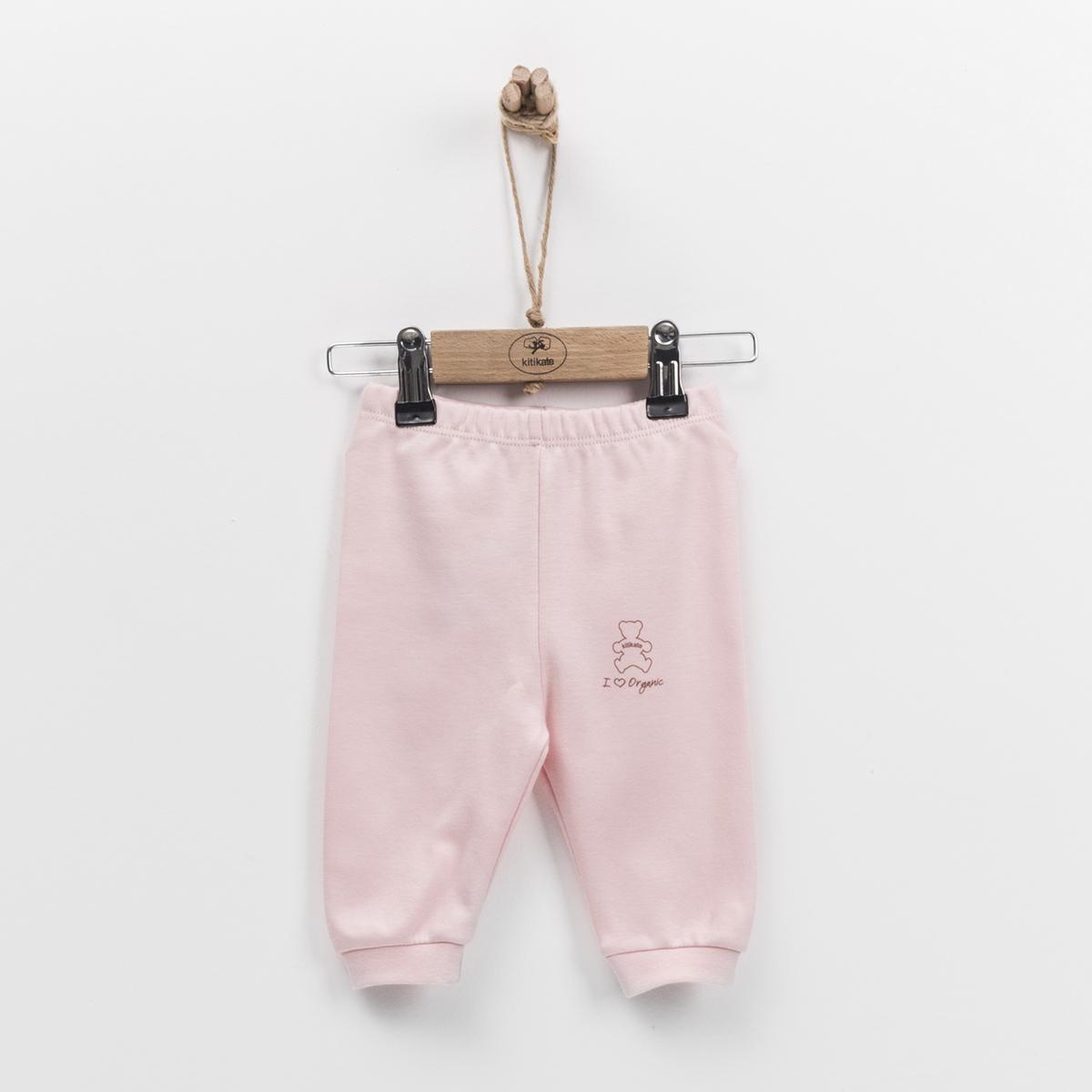 嬰兒有機棉長褲 (粉紅色)-50cm (0-1M)