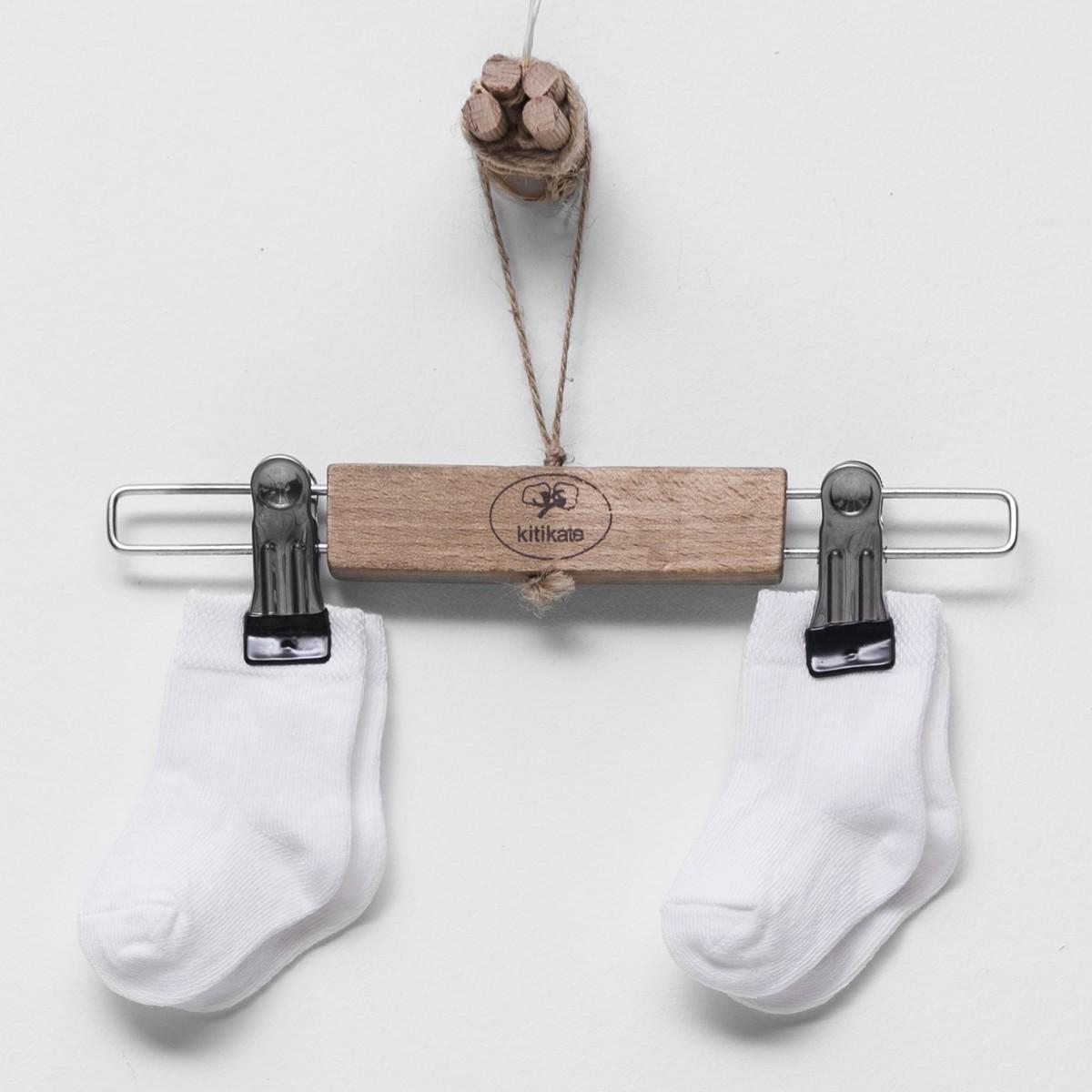有機棉寛口襪 - 2對裝 (杏色)-0-3M