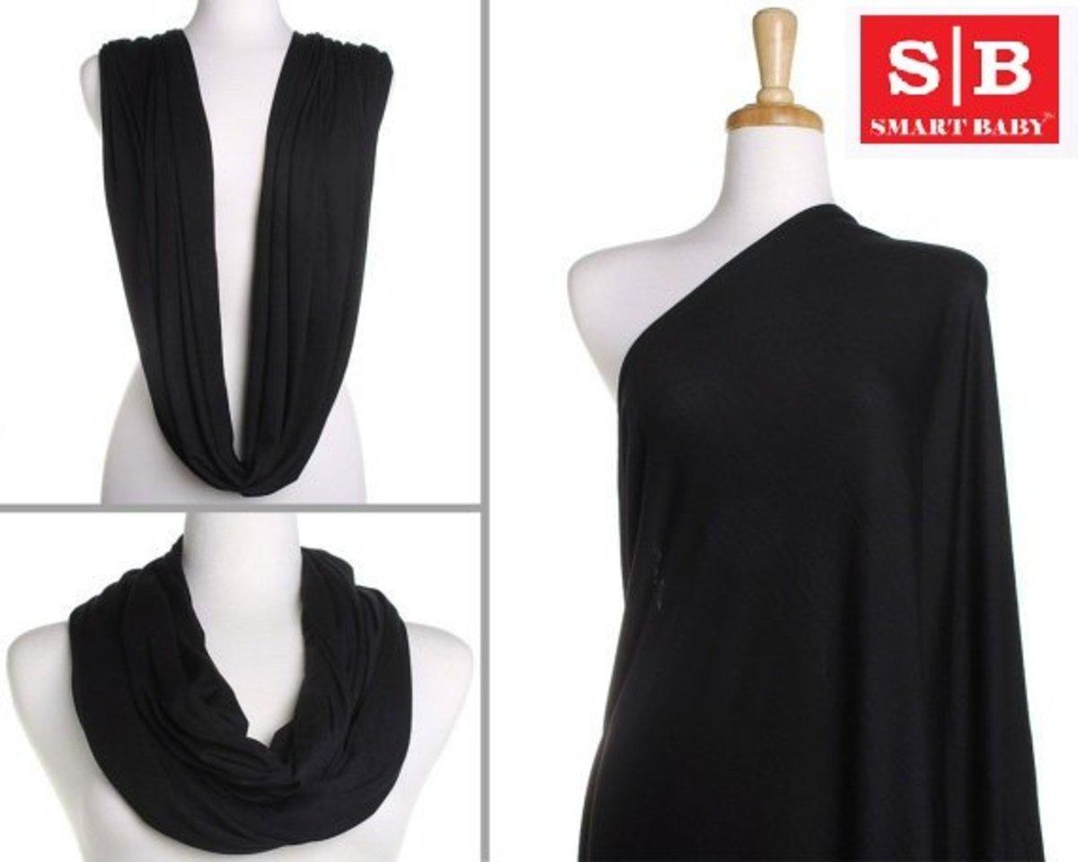 Multipurpose Breastfeeding Towel - Scarf (Black)
