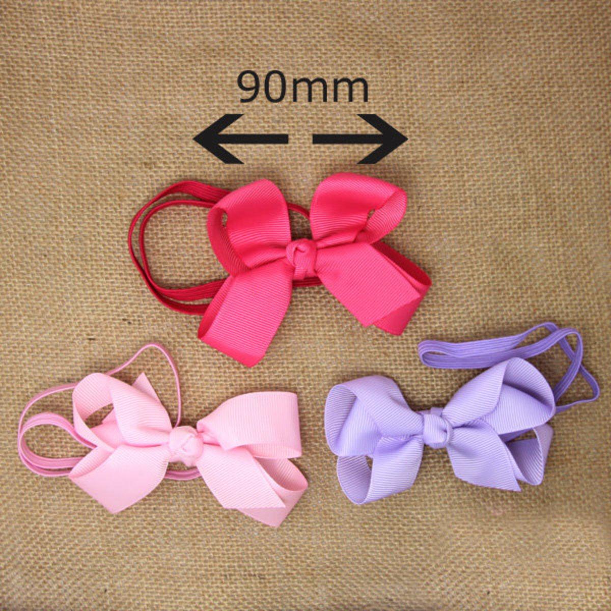 幼嬰兒頭飾-蝴蝶結頭箍 (桃紅色)