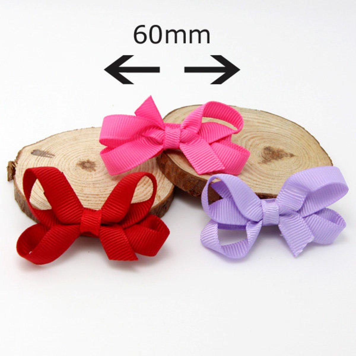 幼嬰兒頭飾-髮夾 (一對裝) (桃紅色)