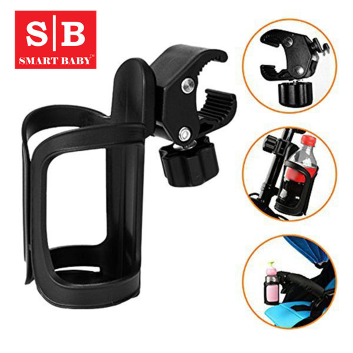 Stroller Cup Holder-Universal Model (For Bicycle / Scooter / Balance Bike)