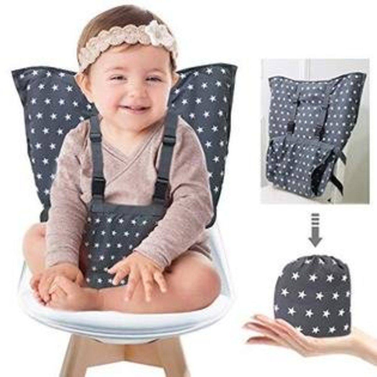 Baby Carrying Seat/Toddler Safe Cloth Chair Cover (Star)