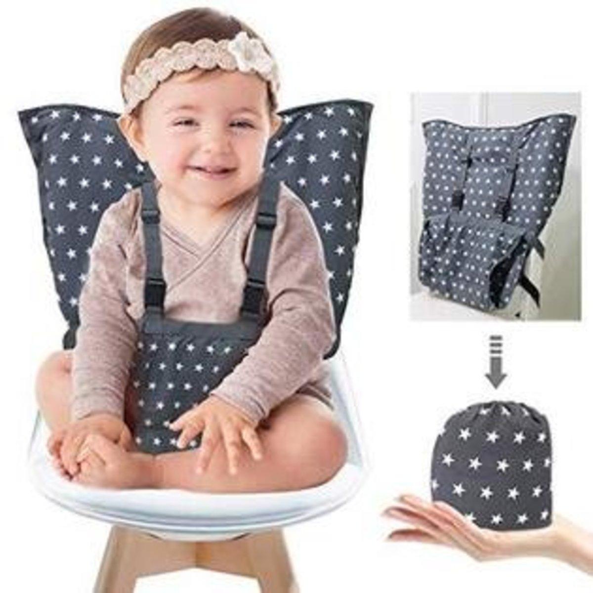 嬰兒安全便攜座椅/幼兒安全布餐椅套-大部份餐椅可用 (星星)