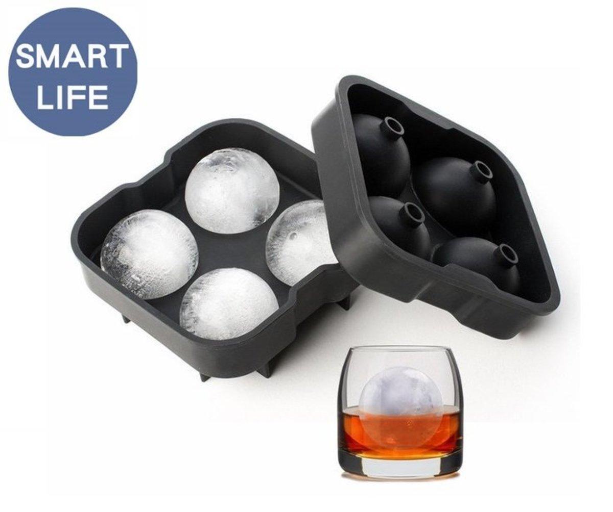 矽膠球型制冰器(直徑=5cm)/威士忌冰-(4格裝)