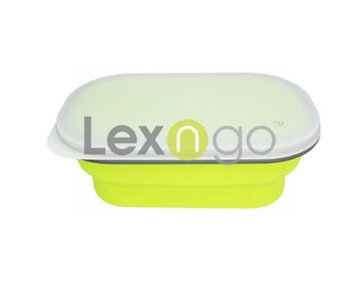 Silicone Collapsible Snack Box (Small) 580ml (Green)
