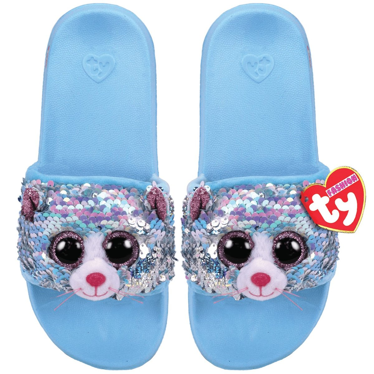 Ty-95669-Whimsy Cat Sequin - Pool Sliders - L