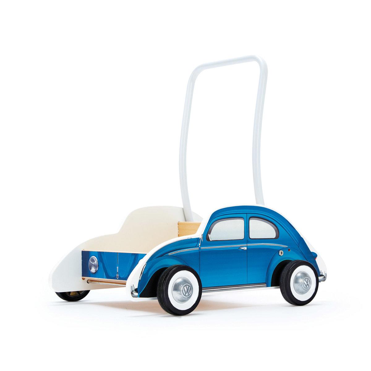 E0382-可調節學步車—藍色大眾甲殼蟲