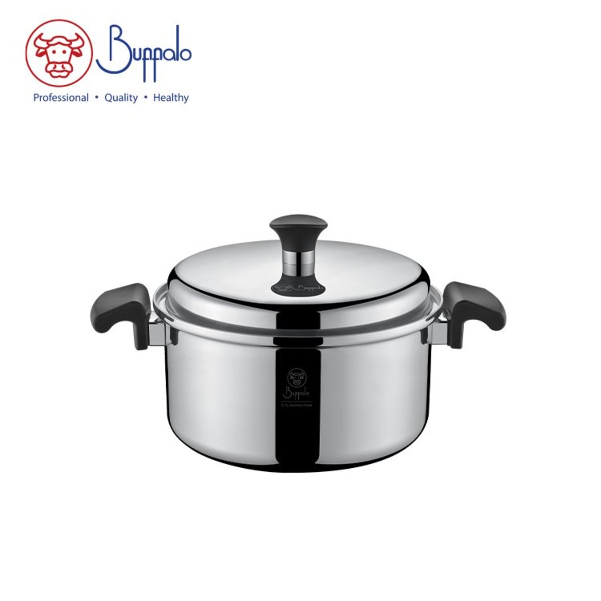 Buffalo Elite Cook 22CM 5-Ply  Stainless Steel Stockpot (50522S)